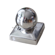 SHSSPCB-03: 4x4 Inch Decorative Round Stainless Steel Fence Post Caps