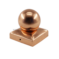 SHCPCB-01: Widely Used Copper Round Fence Post Cap for Garden