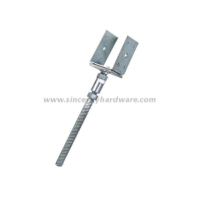 U Type Adjustable Hot Dipped Galvanized Fence Post Ground Anchor