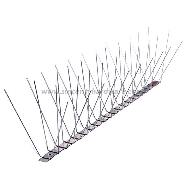 SHSS-7: 4 Rows Stainless Steel Spikes for Bird Control, Anti Bird Spike